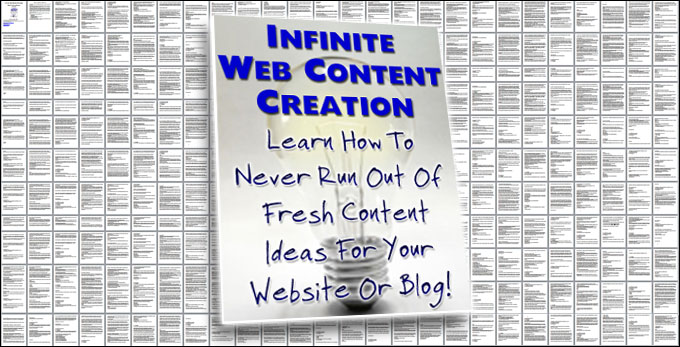 Infinite Web Content Creation Email Training Series